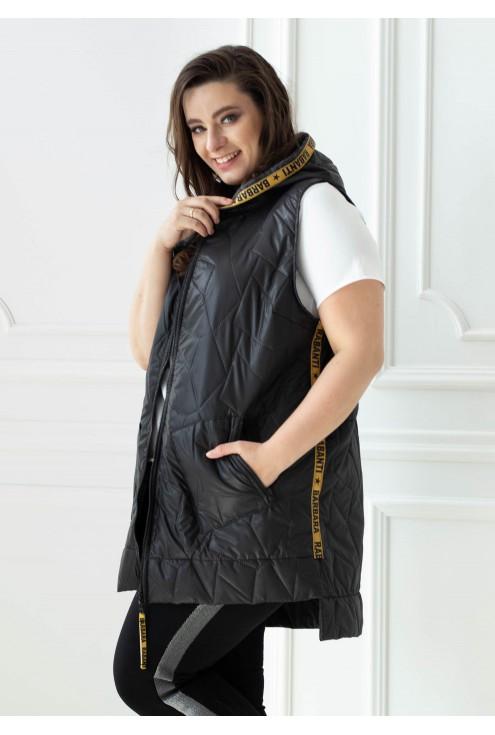 czarna kamizelka plus size xxl
