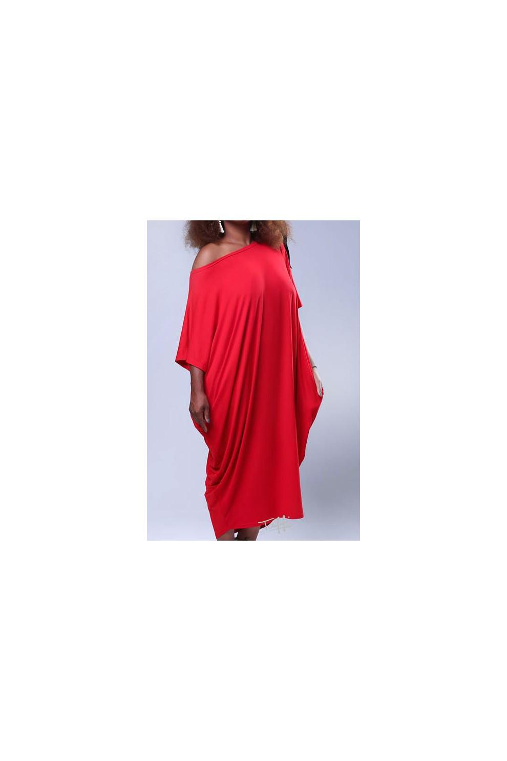 c0c38c9b35 ... Sukienka oversize czerwona - WIJA. NOWOŚĆ. Sukienka ...