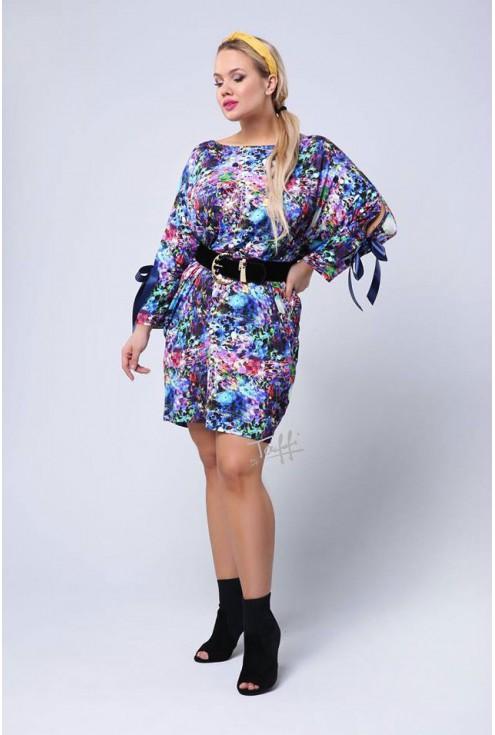kolorowa sukienka Santi moda plus size od Taffi