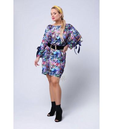 Kolorowa tunika/sukienka - SANTI PRINT
