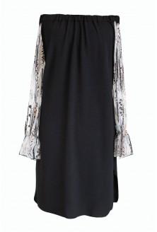 Czarna sukienka hiszpanka z cekinami - MIRELLA