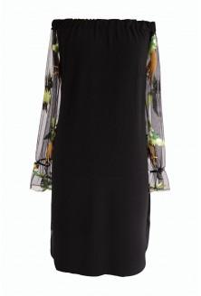 Czarna sukienka hiszpanka w ptaki - MIRELLA
