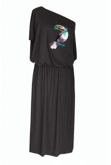 Sukienka maxi z tukanem - GRAND