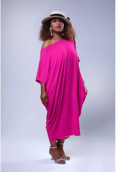 Sukienka oversize różowa - WIJA