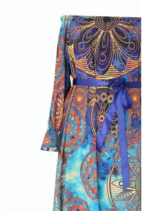 Niebieska sukienka maxi - Luisa