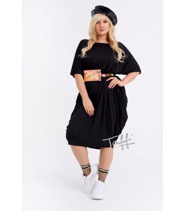 Sukienka oversize czarna - WIJA