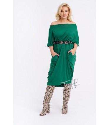 Sukienka oversize zielona - WIJA