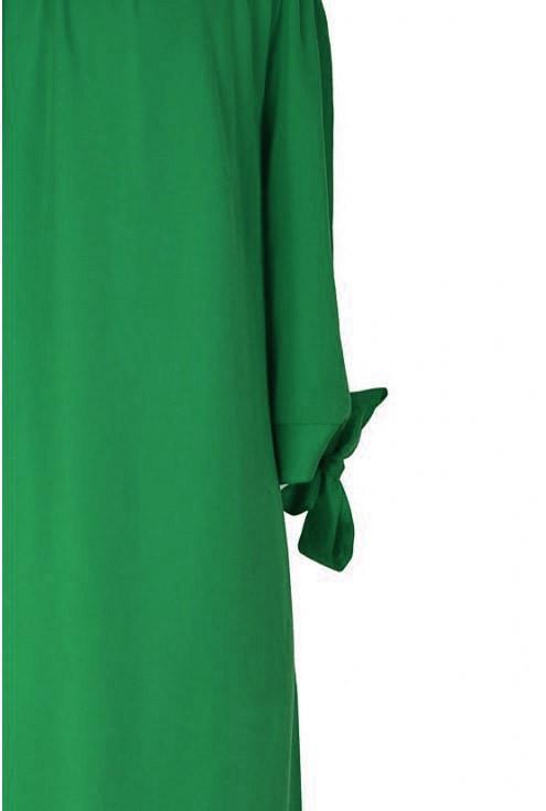 Jasnozielona sukienka hiszpanka - MARITA