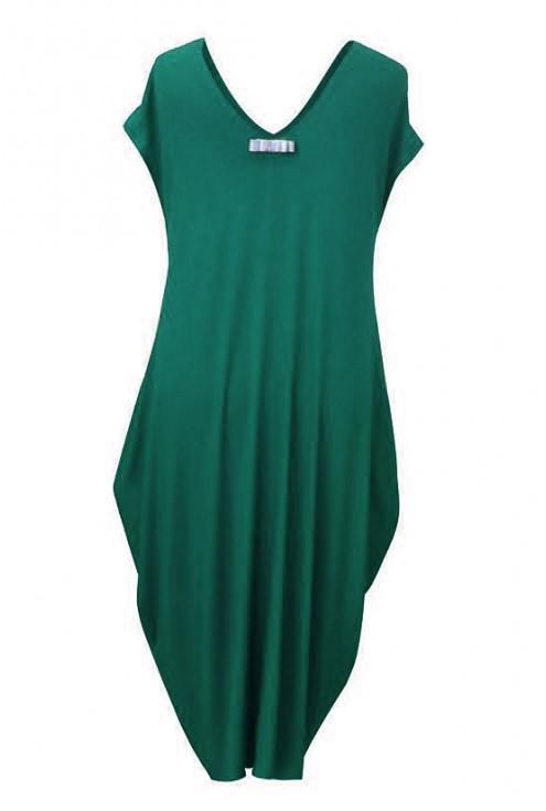 Butelkowa dzianinowa sukienka - CYNTIA