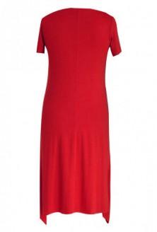 Czerwona rozkloszowana sukienka - BASILIA