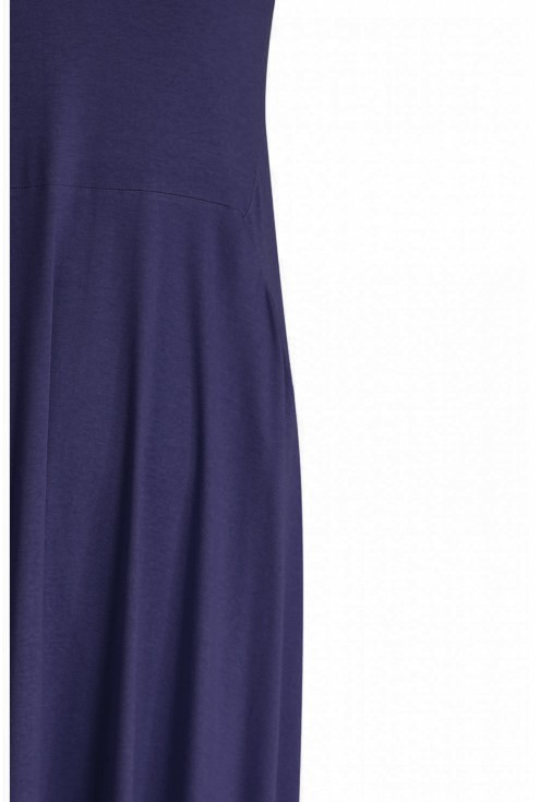 Granatowa rozkloszowana sukienka - BASILIA