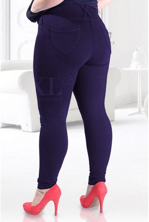 Granatowe legginsy z kieszeniami i wysokim stanem SOPHIA