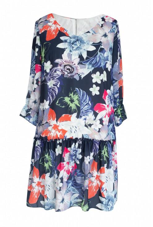 niebieska sukienka bellflower kwiaty