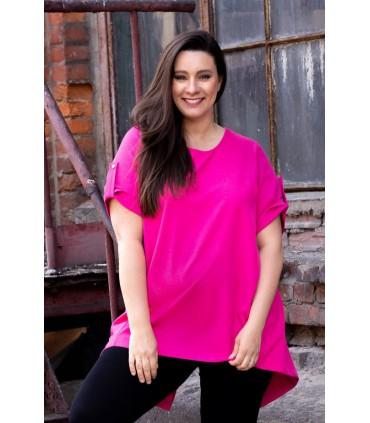 Tunika ściągana na plecach ADELINE - kolor różowy