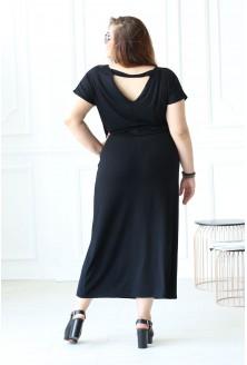 Czarna sukienka maxi Valentia