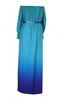 Turkusowo-fioletowa sukienka maxi - PANDORA OMBRE