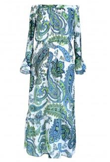 sukienka hiszpanka maxi plus size z wzorem paisley