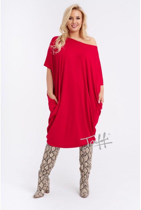 Sukienka oversize czerwona - WIJA