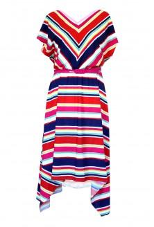 sukienka w kolorowe paski cecilia