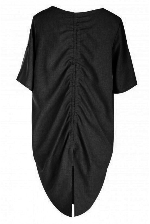 Tunika ściągana na plecach ADELINE - kolor czarny
