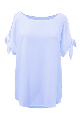 Błękitna szyfonowa bluzka LARISS