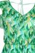 Zielona sukienka roślinny wzór LAUREN