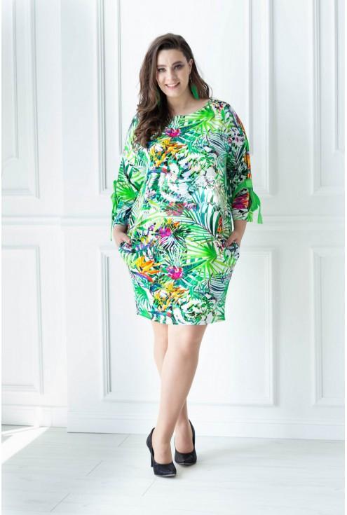 sukienka tunika na upały safari xxl