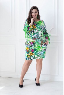 sukienka safari plus size na upały