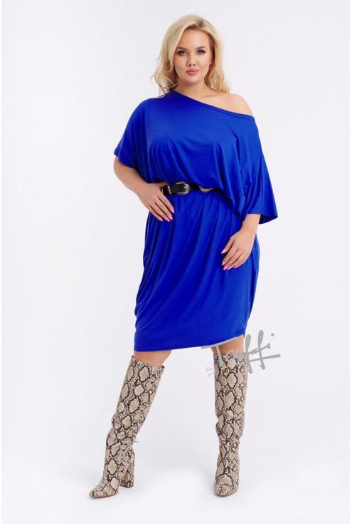Sukienka oversize chabrowa - WIJA