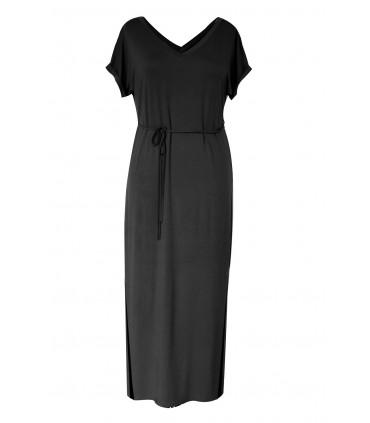 Czarna dzianinowa sukienka maxi MELISSA