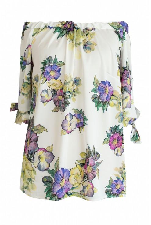 bluzka hiszpanka w kwiaty xxl
