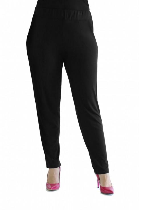 luźne czarne wakacyjne spodnie z wiskozy xxl