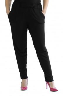 czarne gładkie spodnie plus size
