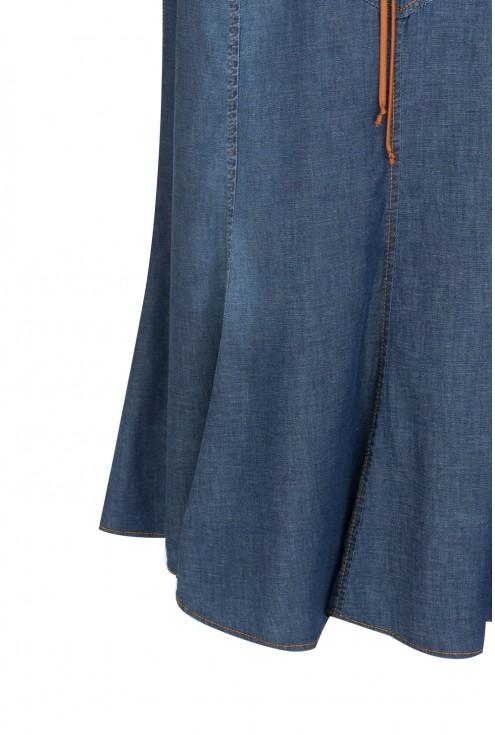 Spódnica w kolorze jeansowym Naila