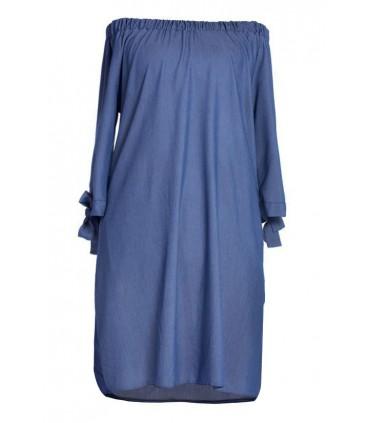 Sukienka hiszpanka - Sofía - kolor jeansowy