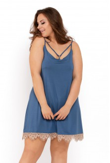 koszulka nocna w kolorze jeansowym novia