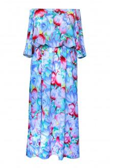 niebieska sukienka w kwiaty plus size xxl