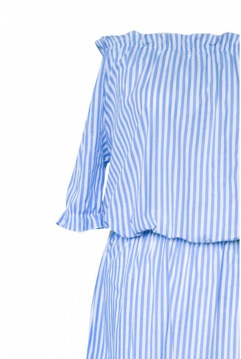 bok sukienki niebieskiej xxl