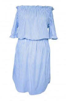 sukienka hiszpanka w niebieskie paski xxl