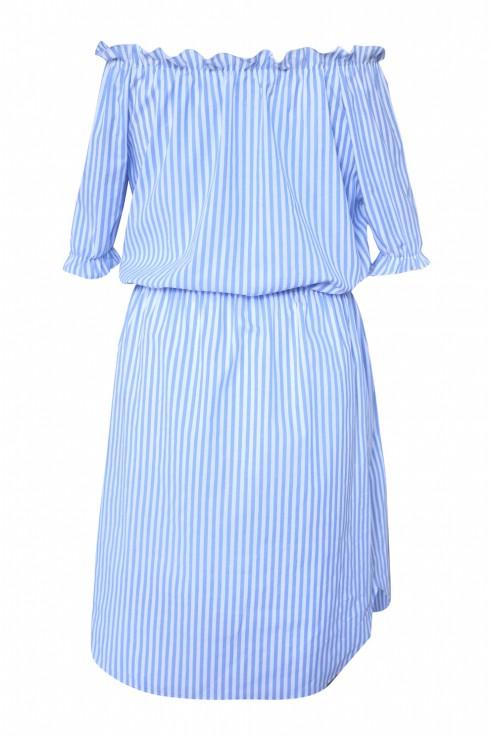Sukienka hiszpanka w niebieskie paski - MARINE