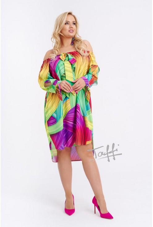 Kolorowa sukienka hiszpanka FONETTI