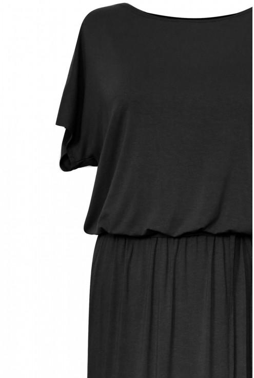 czarna sukienka xxl detal