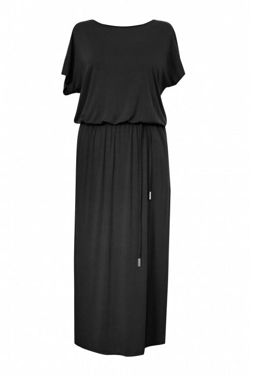 czarna sukienka maxi valentia plus size