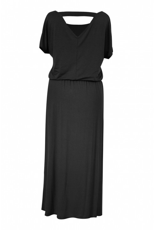 tył czarnej sukienki xxl detal