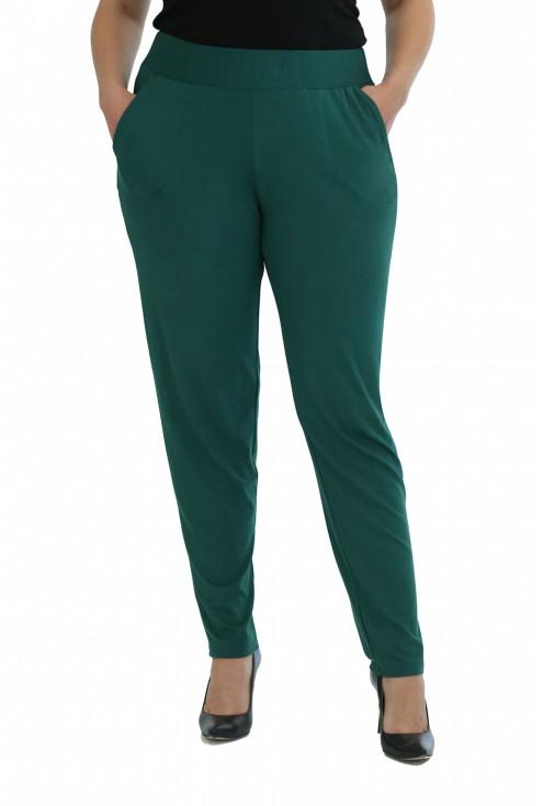zielone butelkowe spodnie plus size na lato