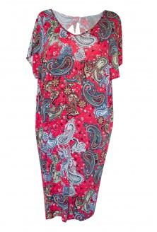 przód czerwonej sukienki orientalnej xxl