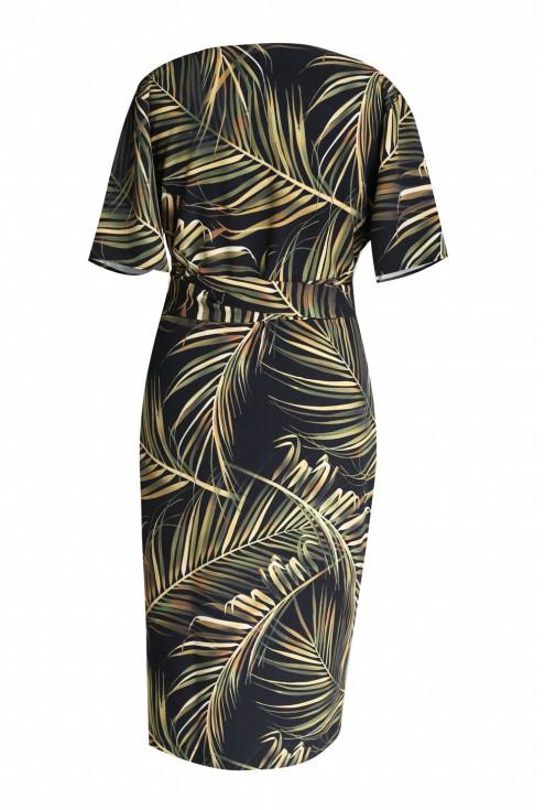 tył sukienki liście bambusa