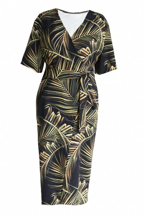 sukienka w liście bambusa