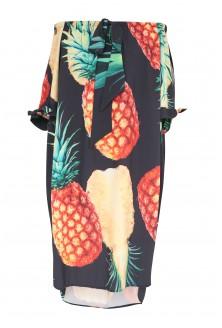 czarna sukienka hiszpanka z ananasem