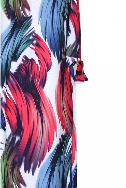 bok kolorowej sukienki xxl